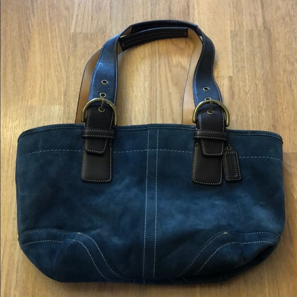 Coach Handbags - Coach suede handbag